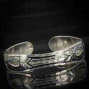 Серебряный кубачинский браслет с чернением арт.596