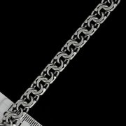 """Кубачинская серебряная цепь ручной работы """"Бисмарк"""" оксидированная 60 см (ширина - 0,8 см) арт.2615"""