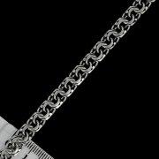"""Кубачинский серебряный браслет ручной работы """"Бисмарк"""" оксидированный 24 см (ширина 0,7 см) арт.5306"""