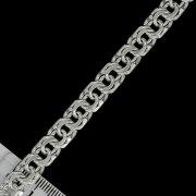 """Кубачинская серебряная цепь ручной работы """"Бисмарк"""" 70 см (ширина - 0,8 см)"""