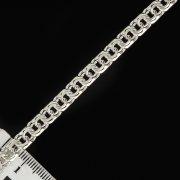 """Кубачинская серебряная цепь ручной работы """"Бисмарк"""" 60 см (ширина 0,6 см) арт.2645"""