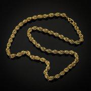 Кубачинская серебряная цепь ручной работы с филигранью 51 см (ширина 0,55 см) арт.6892
