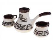 """Турка для кофе в наборе """"Греческий орнамент"""""""