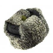 Мужская каракулевая шапка-ушанка ручной работы (сорт - валек) арт.6997