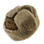 Мужская шапка-ушанка из овчины ручной работы арт.7002