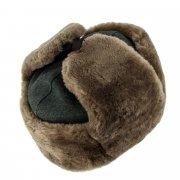 Мужская шапка-ушанка из овчины ручной работы арт.7003