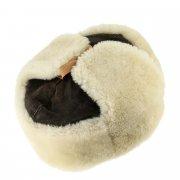 Мужская шапка-ушанка из овчины ручной работы арт.7006