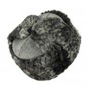 Мужская каракулевая шапка-ушанка ручной работы (сорт - валек) арт.7017