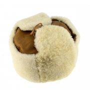 Мужская шапка-ушанка из овчины ручной работы арт.7019