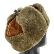 Мужская шапка-ушанка из овчины ручной работы арт.8569