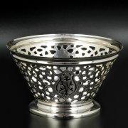 Серебряная конфетница Кубачи ручной работы арт.8671