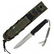 Тактический нож Alpha (сталь - AUS-8 Satin Serrated, рукоять - кратон) арт.4225