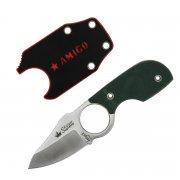 Шейный нож Amigo X (сталь - D2 Satin, рукоять - G10 Green) арт.4234