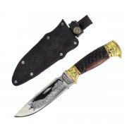 """Кизлярский нож туристический """"Викинг"""" (сталь - 65Х13, рукоять - дерево) арт.2324"""